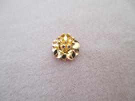 Bead cap flower goud kleurig 9 x 9 mm.