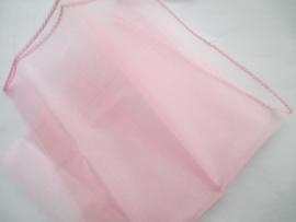 Voile roze 30 x 30 cm.