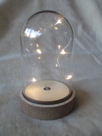 Stolp met verlichting, plastic 13 cm. hoog