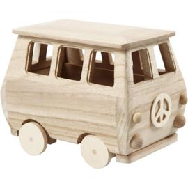 Minibus, 17 x 10 x 13 cm. Grenen