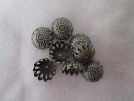 Flower Bead Cap 12x6 mm. brons