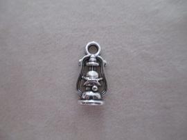 B12174 Olie lamp zilver kleurig