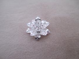Bead cap flower zilver 16 x 15 mm.
