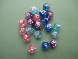 Kralen 4 kleuren in een zakje