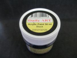 Acryl verf zwart, 50 ml.