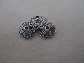 SFD17865 Metalen kapje 14 x 6 mm, oud zilver kleurig