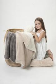 Dynamic Comfort dubbele Teddy camel/grijs 150x220