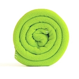 Outlet eenpersoonsdeken Polartec® fleece 127x180cm Lime
