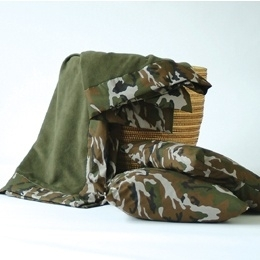 Outlet Plaid Camouflage wieg 70x95 cm