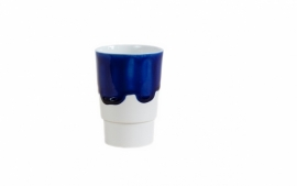 Beker porselein 'Useful new colors', Blauw