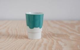 Beker porselein 'Useful new colors', Groen