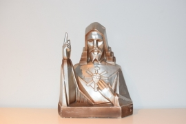 art deco Jezus borstbeeld