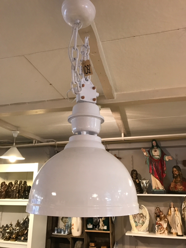 Industriële witte hanglamp