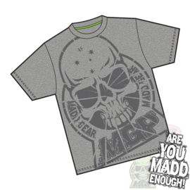 MADD GEAR Shatterd Kids T shirt Dark Grey Size S / M