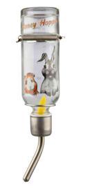 Honey & Hopper Glazen Drinkfles
