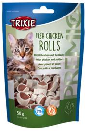 Kattensnack Vis Kip Rolletjes 5ogr