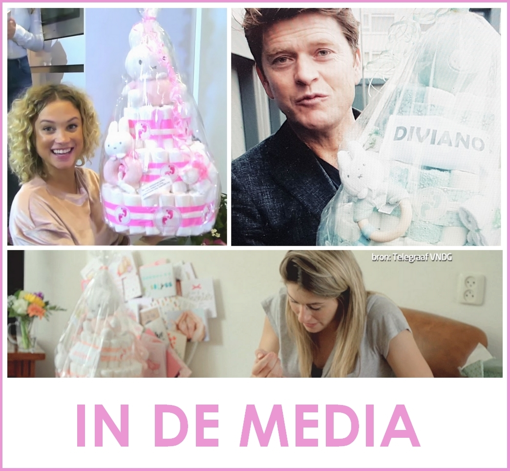 Luiertaart Kraacadeau Babyshower Media