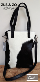 Tas 'Kaat' Smal  Cow shopper black