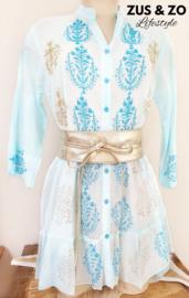 Tuniek - jurkje 'Es Vedra' bleu