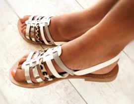 Sandaaltje 'White Silver-beauty'