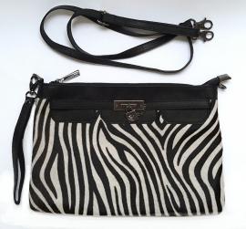 Clutchtas  zebra groot