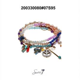 Setje armbandjes 'Peace pearl'