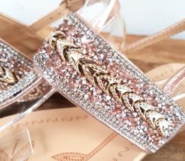 Sandaaltje 'Sparkles'  Rosé gold