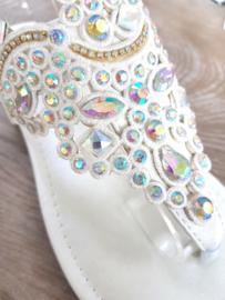 Sandaaltjes 'Shine' pearly-white