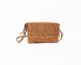 Bag2bag tas / clutch 'Polla' cognac