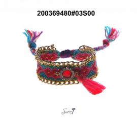 Armband Ibiza 'Sweet candy' pink