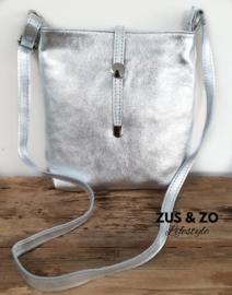 Schoudertas 'Medium' zilver
