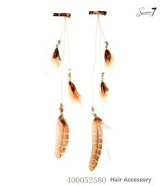 Haarclips 'Feathers' Naturel