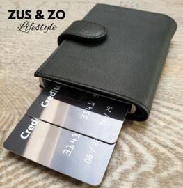 Creditcard houder leer zwart