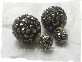 Double Pearls Sparkle black