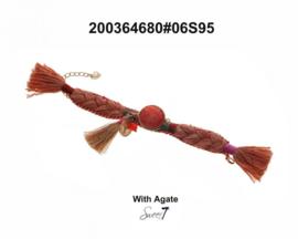 Armband 'Orange Agaat'