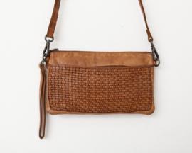Bag2Bag tas / clutch 'Trani' cognac
