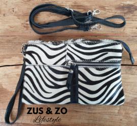Clutch - tasje 'Elba Zebra'