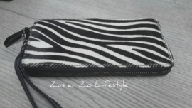 Koeienvacht portemonnee met zebraprint