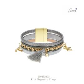 Armband 'Flosje' zilver-grijs
