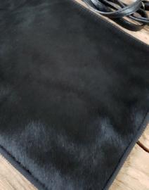 Clutch / tas koeienvacht groot zwart