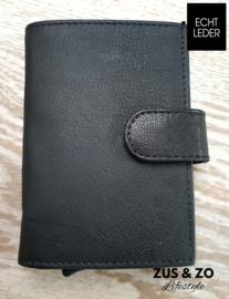 Creditcard wallet leer zwart
