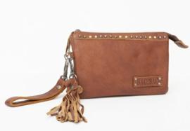 Bag2Bag tas / clutch 'Pedy' cognac