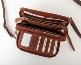 Bag2Bag 'Gibson' tasje / wallet cognac