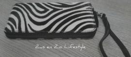 Koeienvacht portemonnee groot met zebraprint