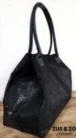 Grote tas 'Snake' zwart