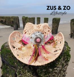 Ibiza hoed 'Boho Pink'