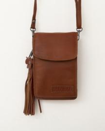 Bag2Bag Schouder - heup - tas - wallet 'Yuka' cognac