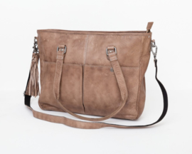 Bag2Bag Laptoptas 'Kelsey' Grey-taupe