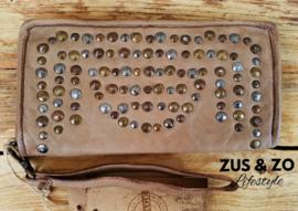 Phone-wallet 'Vintage Amsterdam'  licht taupe