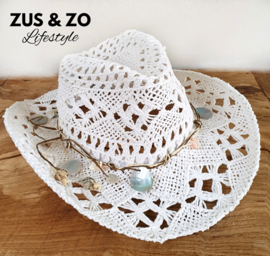 Ibiza hoed 'Eivissa' white